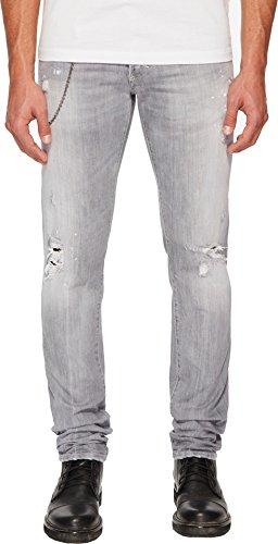 DSQUARED2 Men's Broken Wash Slim Jeans Light Grey 48 (Dsquared2 Men Pants)