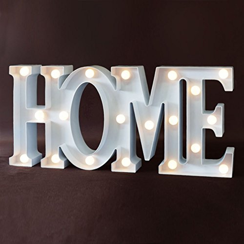 """Led Sign Home Decor: BRIGHT ZEAL 7.5"""" Large """"HOME"""" LED Letter Marquee Sign (6hr"""