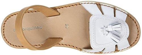 a7ab4ab28b332 Minorquines Avarca Neo 2 Cuir Blanco, Sandales Bout Ouvert Femmes, (Blanc),  41 EU: Amazon.fr: Chaussures et Sacs