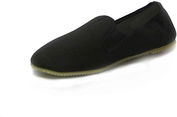 Kung Fu Schuhe schwarz mit Gummisohle