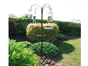 Nuevo Lujoso 4 brazo Jardín Pájaro SILVESTRE Alimentación Trampa ...