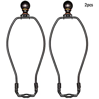 uxcell/® 2 Pack Lamp Harp Holder 6 inch Chocolate for Table and Floor Lamps