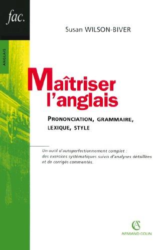 Amazon Com Maitriser L Anglais Prononciation Grammaire
