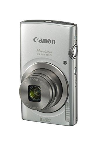 Cámara digital Canon PowerShot ELPH 180 con estabilización de imagen y modo inteligente AUTO (plateado)