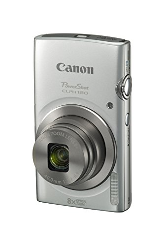 Digital Point And Shoot Film Camera - Canon PowerShot ELPH 180 Digital Camera w/Image Stabilization and Smart AUTO Mode (Silver)
