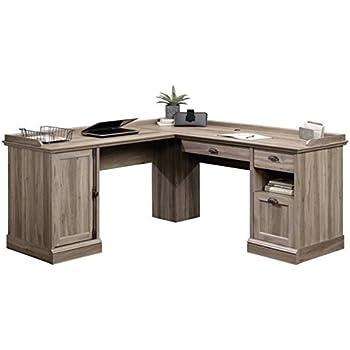 Amazon Com Bush Furniture Cabot L Shaped Computer Desk In