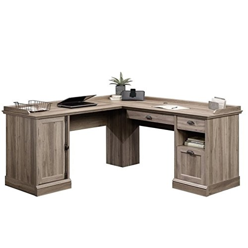 Sauder 418270 L-Desk, Salt Oak ()