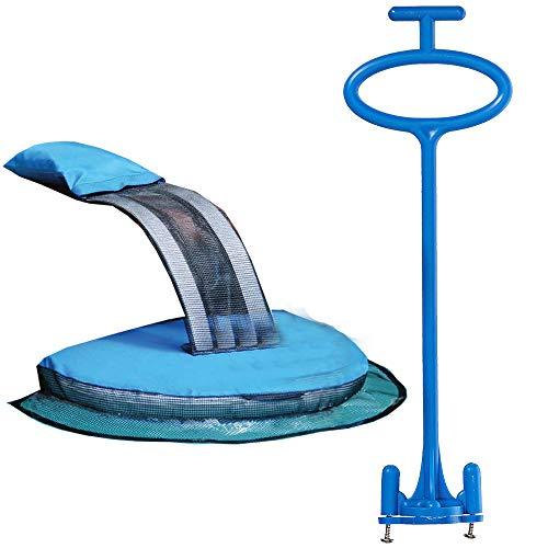 Frog Log Swimming Pool Floating Critter Escape Ramp + Skimmer Angel Skimmer Basket Handle Bundle (1 FrogLog 1 Skimmer Angel) ()