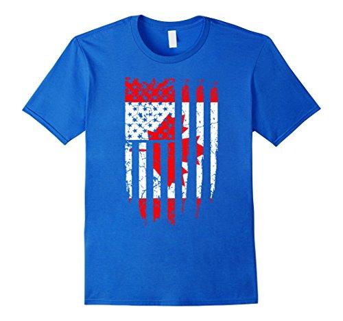 mens-canadian-american-canada-america-flag-t-shirt-medium-royal-blue