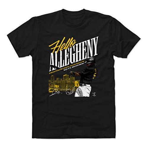 500 LEVEL Josh Bell Cotton Shirt (Large, Black) - Pittsburgh Baseball Men's Apparel - Josh Bell Allegheny Y WHT
