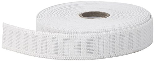 """Pearl No Roll Elastic, 1"""" to 10 yd, White"""