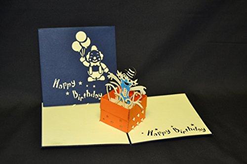 Poppin 3D Pop Up Clown Birthday Card