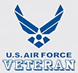 usaf decals - United States Air Force Veteran Logo Car Decal US Military Gifts USAF Products