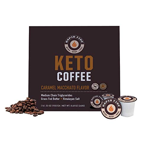 Rapid Fire Caramel Macchiato Ketogenic High Performance Keto Coffee Pods, Supports Energy & Metabolism, Weight Loss…
