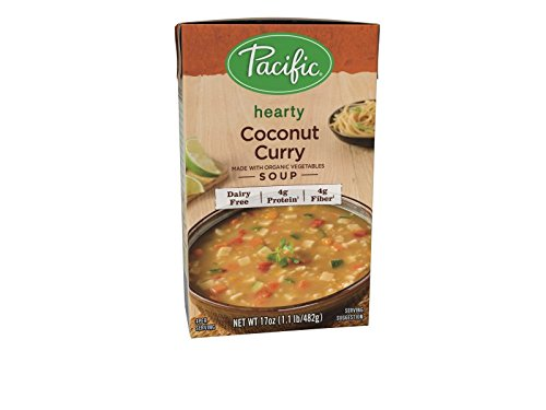 Pacific Foods Curry Soup Made With Organic Coconut, 17-Ounces, 12-Packs by Pacific Foods