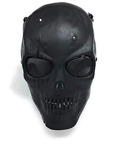 Masque de protection CS Masque de squelette crâne complet Airsoft Paintball de Airsoft Noir 1