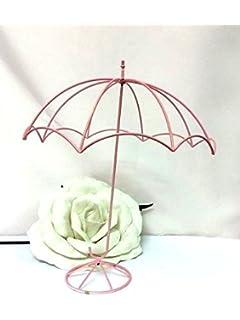 pink wire parasol umbrella baby shower centerpiece decoration