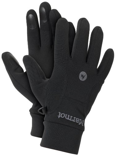 (Marmot Men's Power Stretch Glove, Black, Medium)