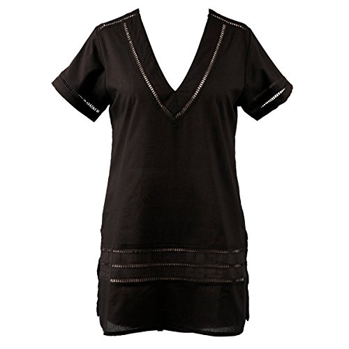 (Peppermint Bay Plus Size Cover-up, Black 1X)