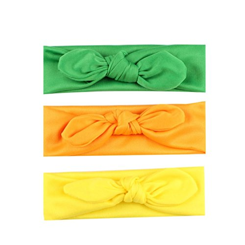 Knot Turban Usa (Headband for Baby Boys Gilrs, Clearance Sale Iuhan 3PC Baby Kids Girls Rabbit Bow Ear Hairband Headband Turban Knot Head Wraps (D))