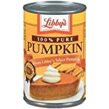 Libby's Pumpkin 15 oz can (20 can case)