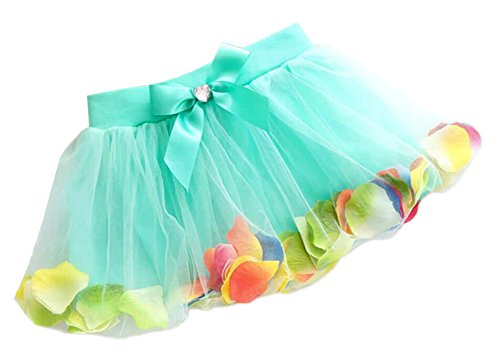 Flower Petal Skirt - StylesILove Kids Little Girl Flower Petal Fluffy Tutu Skirt, 4 Colors (100/2-3 Years, Green )
