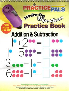 (Practice Pals: Write On Wipe Clean Practice Book (Addition and Subtraction))