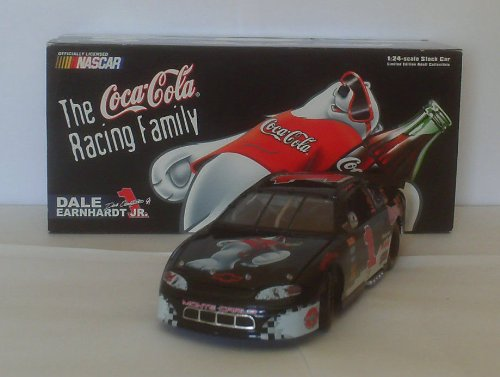 Dale Earnhardt Jr #1 Black Coca Cola Polar Bears 1998 Monte Carlo 1/24 Scale Action Racing 1st Head to Head Race With Dale Sr Motegi Japan Hood, Trunk Open Limited Edition
