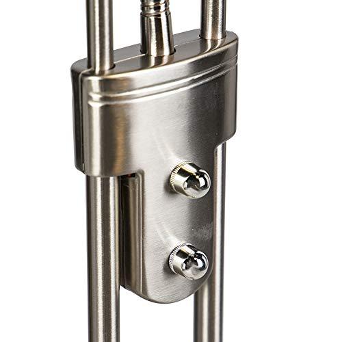 QAZQA Moderne Lampadaire//Lampe de sol//Lampe sur Pied//Luminaire//Lumiere///Éclairage Diva LED 2 acier Acier Acier Rond//Oblongue//int/érieur//Salon