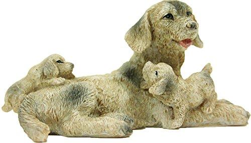 Cane con Cuccioli Altezza circa 3,5cm per 12-18cm Statue Accessorio per Presepe