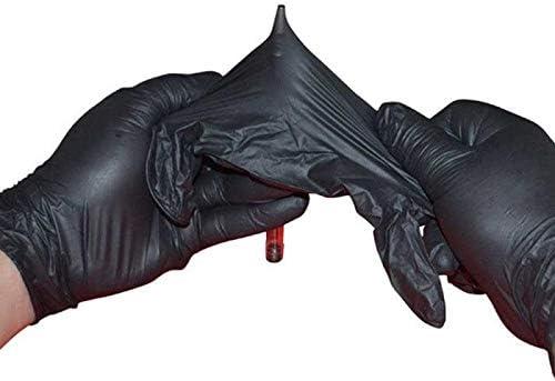 Sin Polvo Grado Alimenticio Sin L/átex Equipo De Protecci/ón De Manos S Haibin 50 Piezas Desechables De Nitrilo Negro