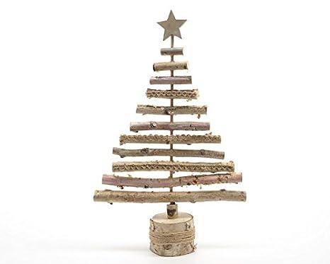 Alberi Di Natale In Legno Amazon.Albero Di Natale In Legno Stilizzato Medio Amazon It