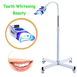 BONEW LED Teeth Whitening Beauty Lamp 36W Floor Stand Instrument Dental Cold Machine Whitening Machine for Clinic and Beauty Accelerator Bleaching System with 10pcs LED Blue Light YS-TW-F