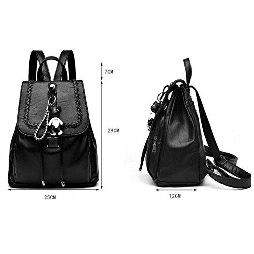 Donna Zaino Black02 Similpelle 29 12 Black01 Centimetri 25 Scuola Hgdr Viaggio Piccola nZBdwBxP