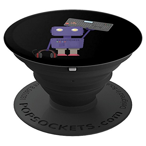 Memorial Pedestal (Robot Keyboard Headphone Digital Technology Gift - PopSockets Grip and Stand for Phones and Tablets)
