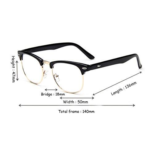 lunettes lentilles résine cadre grand Demi Aiweijia myope lunettes mâle rétro Or en Noir trame femelle ZREnFw
