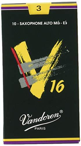Vandoren SR703 Alto Sax V16 Reeds Strength 3; Box of 10