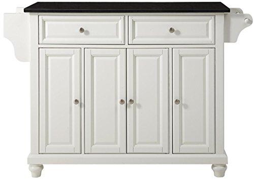 Crosley Furniture Cambridge Kitchen Island with Solid Black Granite Top - White ()