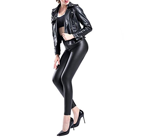11aff6a8ce37c Buy Ginasy Sexy Faux Leather Leggings for Women - Black High Waisted ...