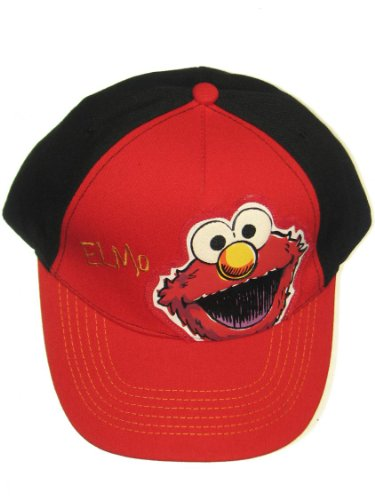 Elmo Hats (Sesame Street Elmo Face Boys Baseball Cap UPF 50+ Sun Hat Red Coppertone)