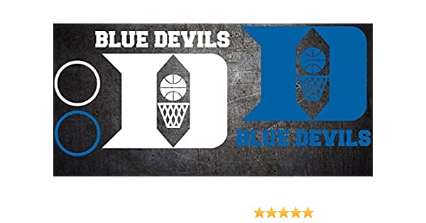 Free Window Decal Duke Blue Devils Cornhole Decal sticker 6 pc Set