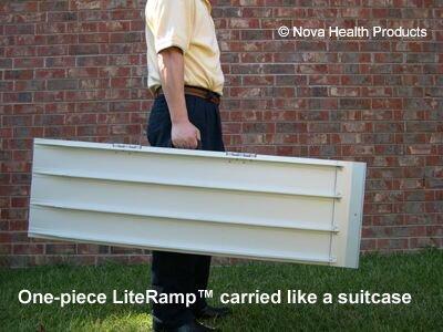 5 Foot Single Fold Literamp Portable Wheelchair Ramp