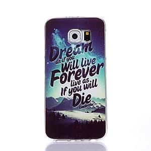 Soñar patrón TPU caso suave para múltiples Samsung Galaxy S4 / S5 / S6 / s6edge ( Modelos Compatibles : Galaxy S6 Edge )