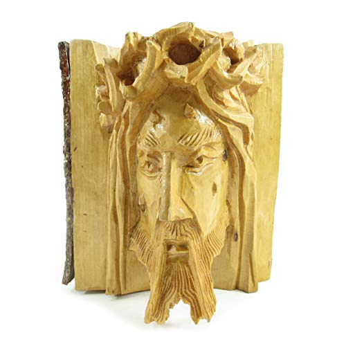Machu Picchu Store Hand Carved Jesus Christ FACE, Wood Sculpture of Jesus by Martin PEÑA 904053