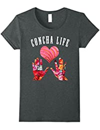 Concha Life Floral Print Mexican Funny T- Shirt - Pan Dulce