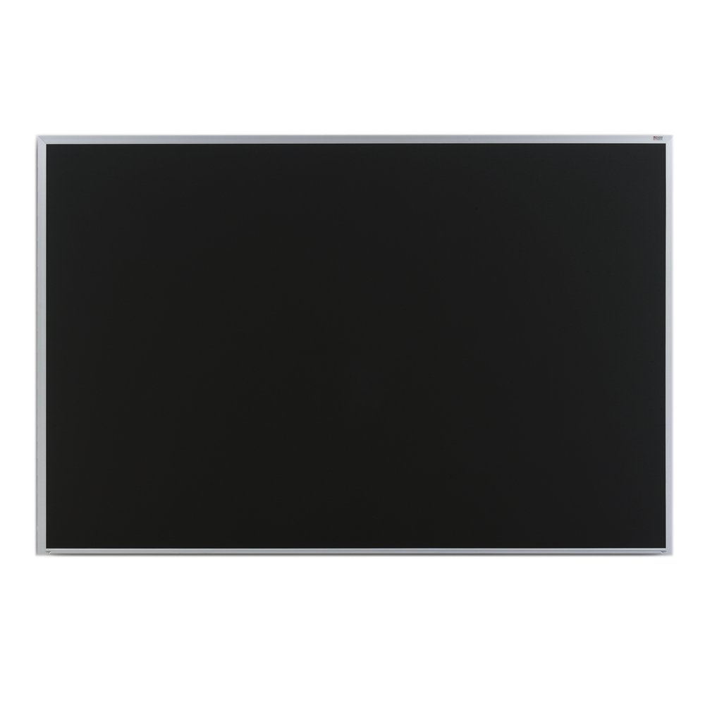Marsh Pro-Lite 60''x72'' Black Porcelain Chalkboard, Standard with Hanger Bar Aluminum Trim / 2'' Map Rail