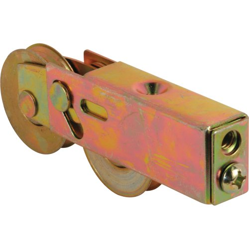 prime line products d 1754 roller assembly 1 12 in tandem wheels concave edge steel ball bearings adjustable - Patio Door Rollers