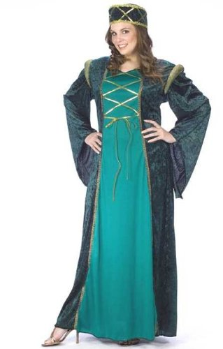 Size 24w Halloween Costumes (Fun World lady in waiting plus costume multi-colored)
