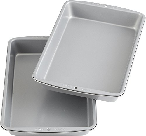 Wilton Recipe Right Oblong Non-Stick Cake Pan Multipack, 9 in. x 13 in. (2-Pack)