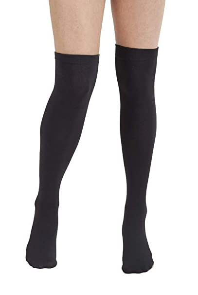 a5aa6bb999f Plush Fleece Lined Thigh Highs (Black) at Amazon Women s Clothing store